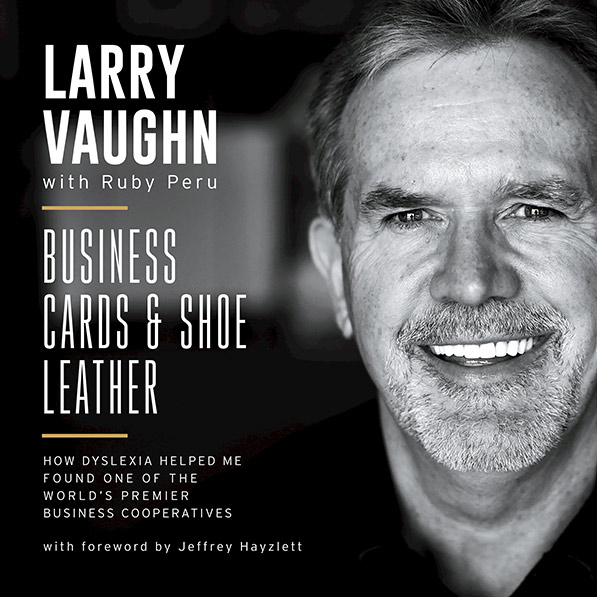 Book cover for Larry Vaughn's Business Cards & Shoe Leather